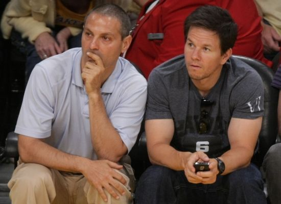 Ari Emanuel and Mark Wahlberg