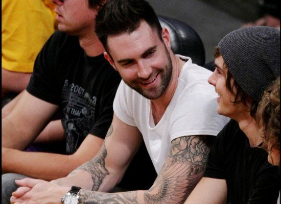 Maroon Five Singer Adam Levine and Efron